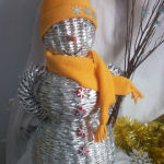 Ideas for creating New Year snowmen with their own hands