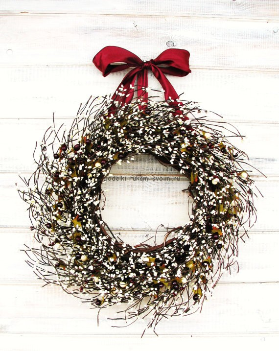 New Year's wreaths with their own hands