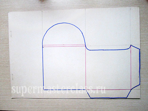 Draw or transfer the pattern to the sheet