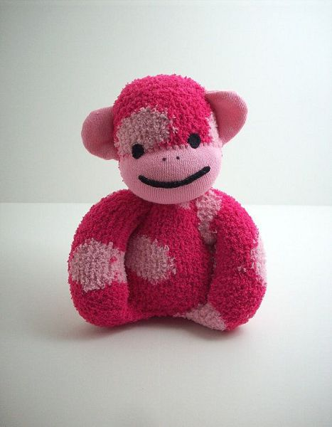 pink monkey from one sock