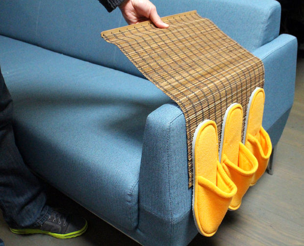 Organizer for the sofa with your own hands