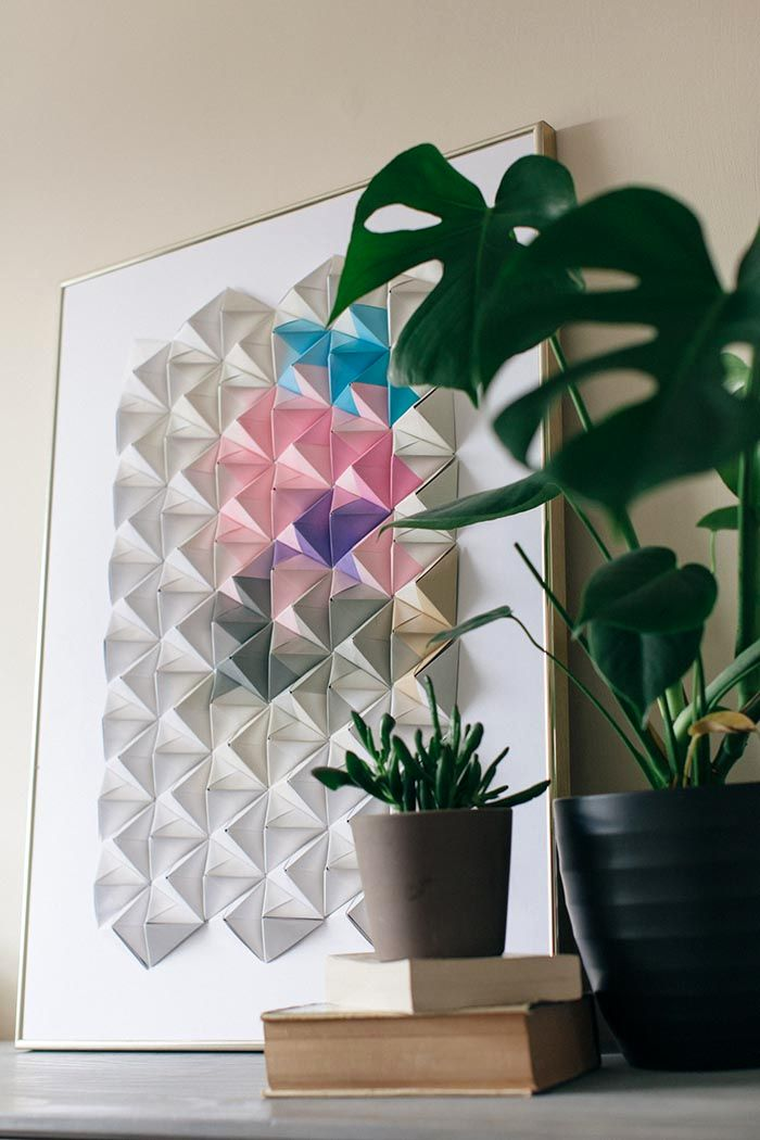 Origami on a paper wall 11
