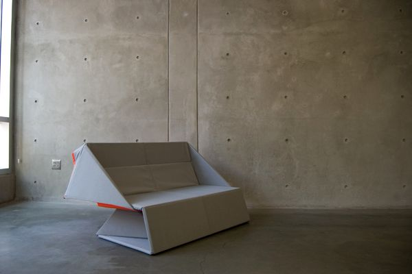 Sofa transformer in the form of origami
