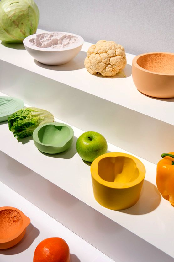 Tableware in the form of vegetables