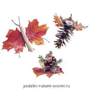 Autumn crafts with children