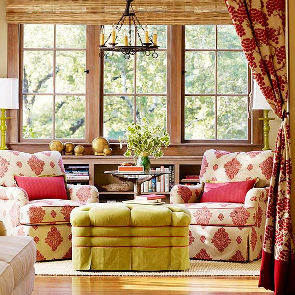 Autumn theme: removable furniture covers