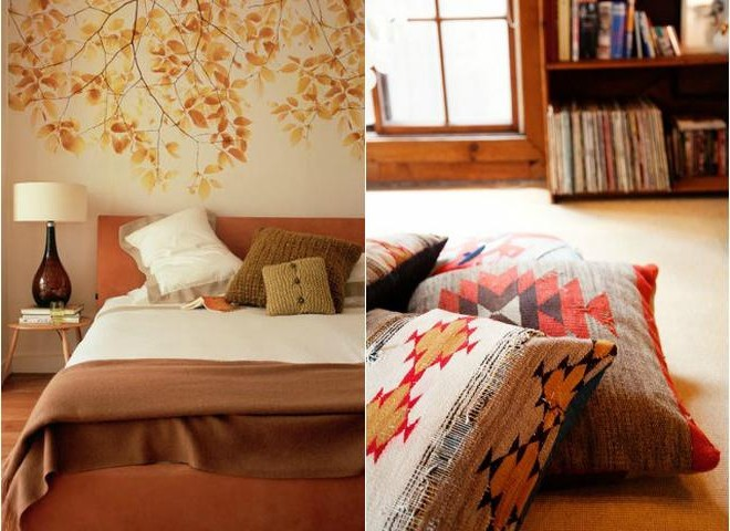 Autumn textiles for home comfort