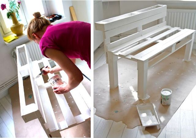 how to make a bench of pallets with your own hands