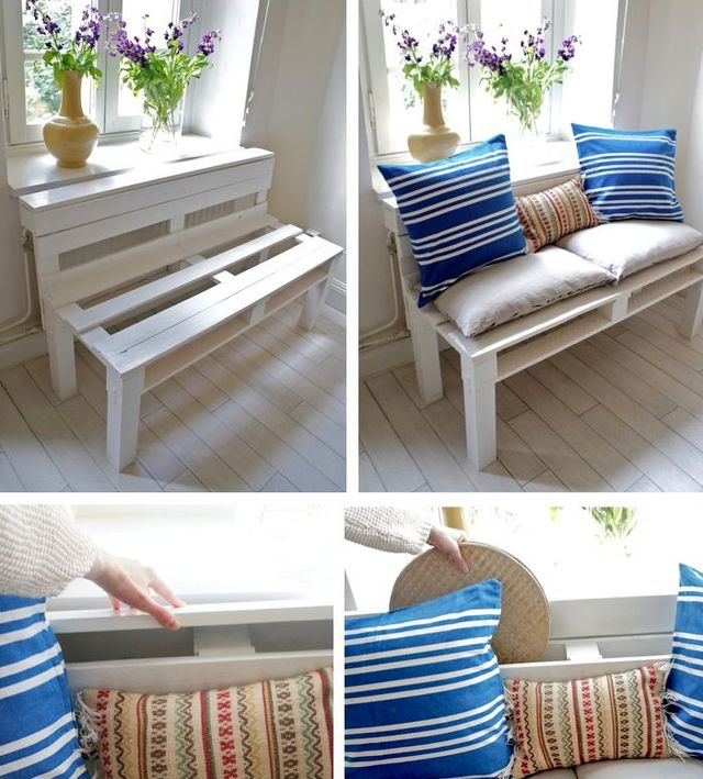 bench from pallets by hand master class