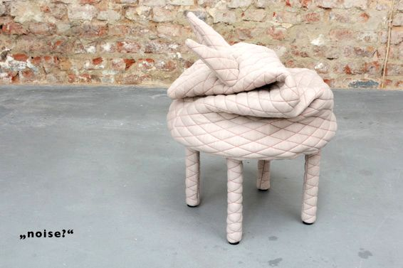 Stool for legs in the form of an animal