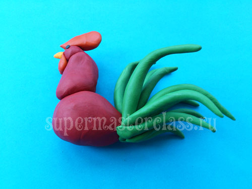 Rooster made from plasticine do it yourself