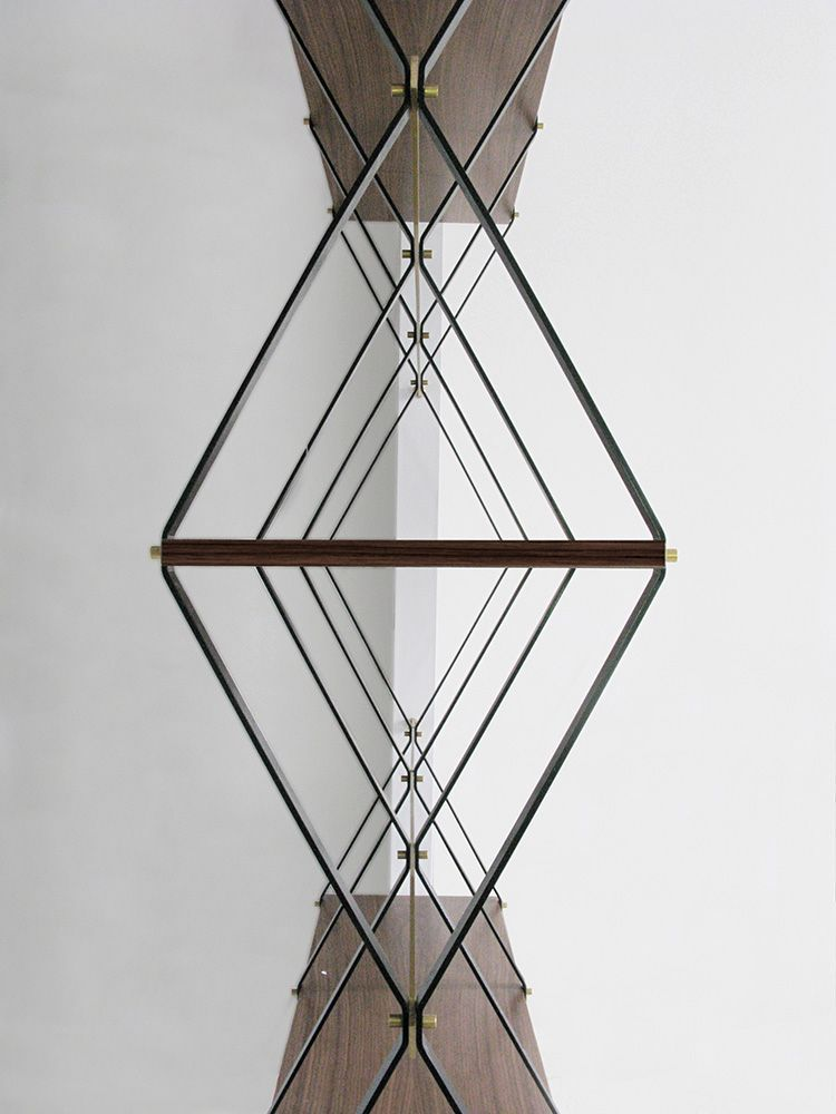 A diamond-shaped shelving - a screen from pietro russo