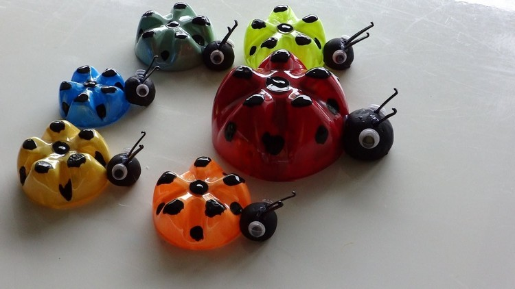 How to make a ladybug from a plastic bottle