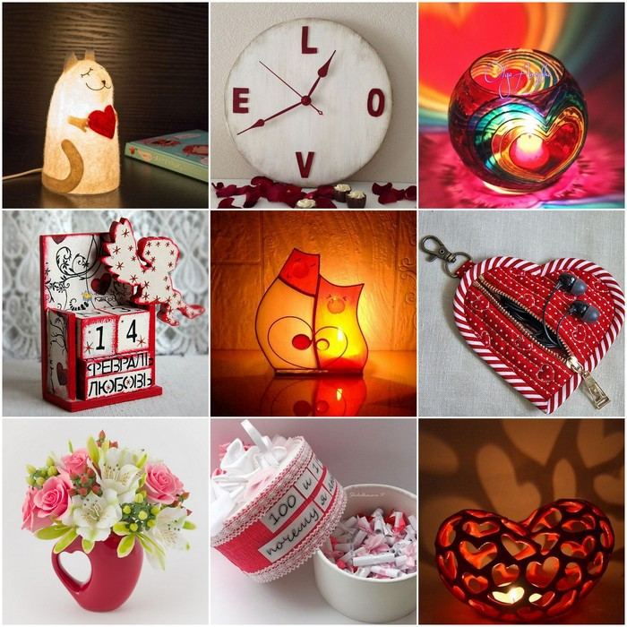 Watches, candles, boxes, lamps and other gifts