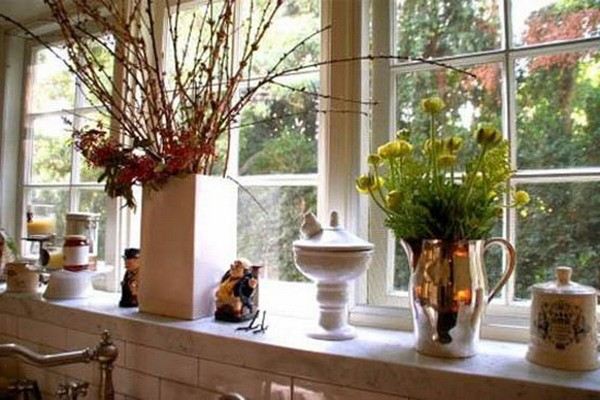Design ideas for window sill decoration