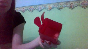 Origami. Bunny with your own hands.