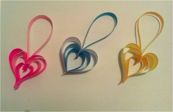 Hearts for paper interior decor