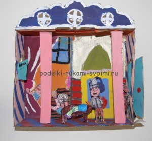Crafts from boxes with their own hands. Diorama for children