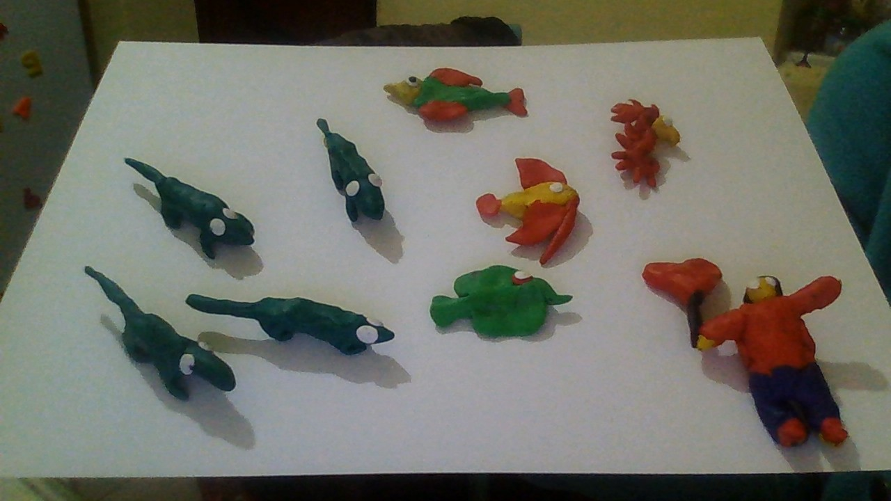 crafts from plasticine simple for children