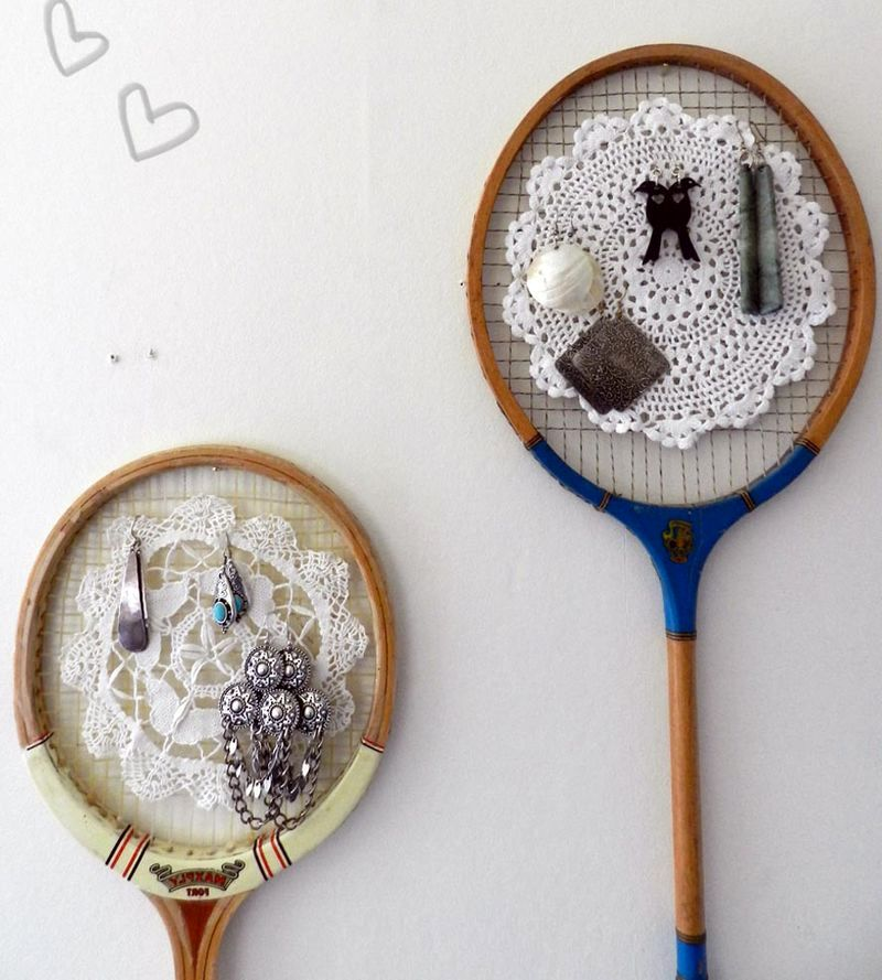 crafts from rackets - store jewelry