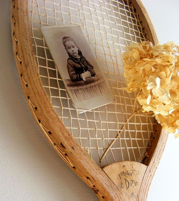 crafts from rackets - a frame for a photo