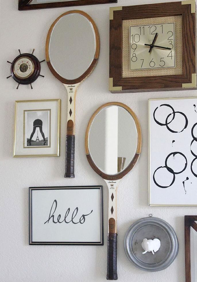 crafts from rackets - mirrors from rackets