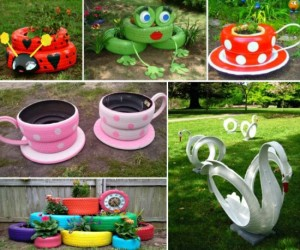 Crafts for garden and garden with own hands
