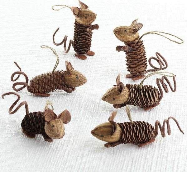 Crafts from cones - Christmas-tree toys