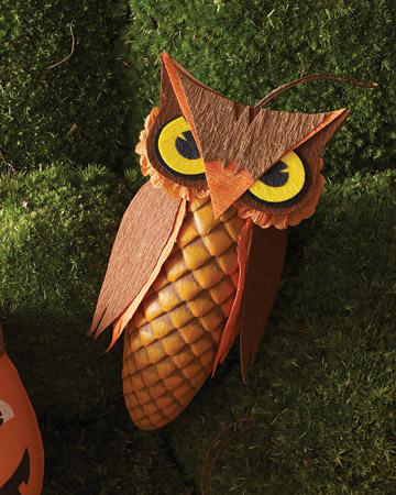Crafts from cones with your own hands - Owl