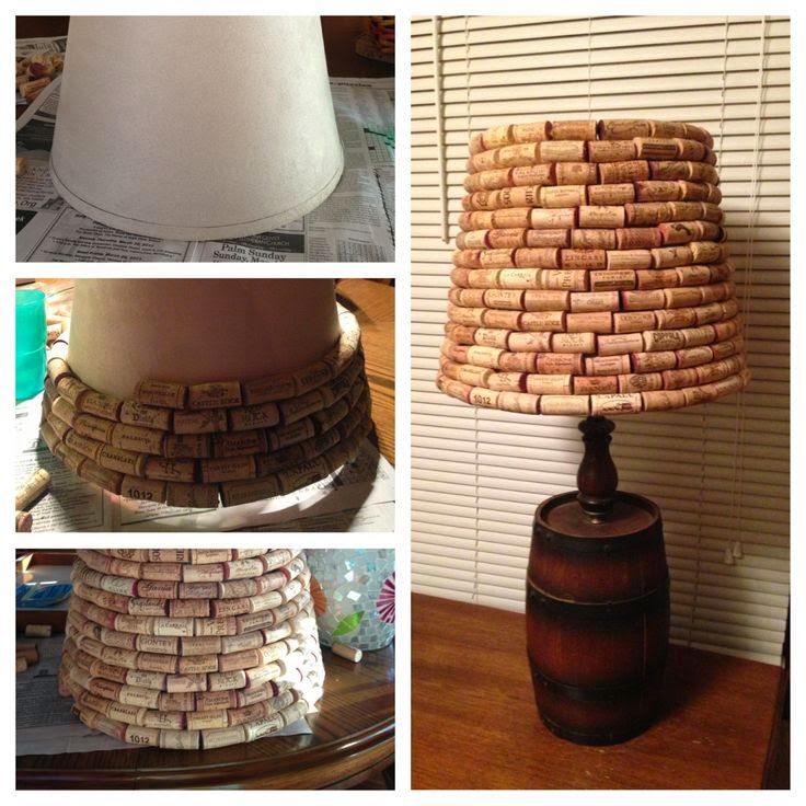 Crafts from wine corks