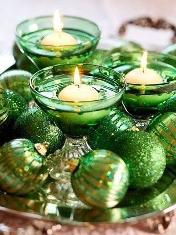 decorative New Year candles with their own hands