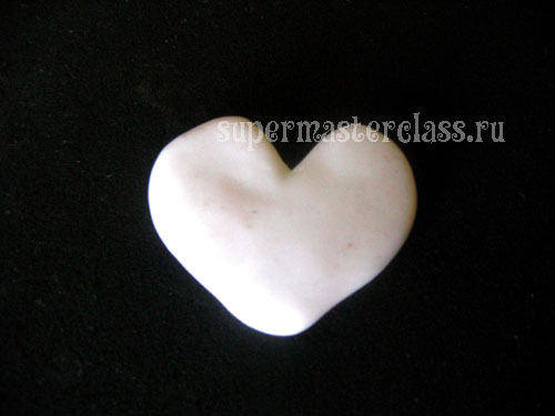 Polymer clay heart pendant base