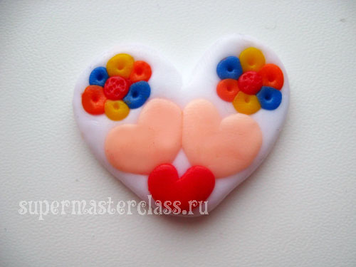 How to make a heart out of polymer clay
