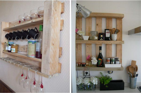 shelves for kitchen from pallets