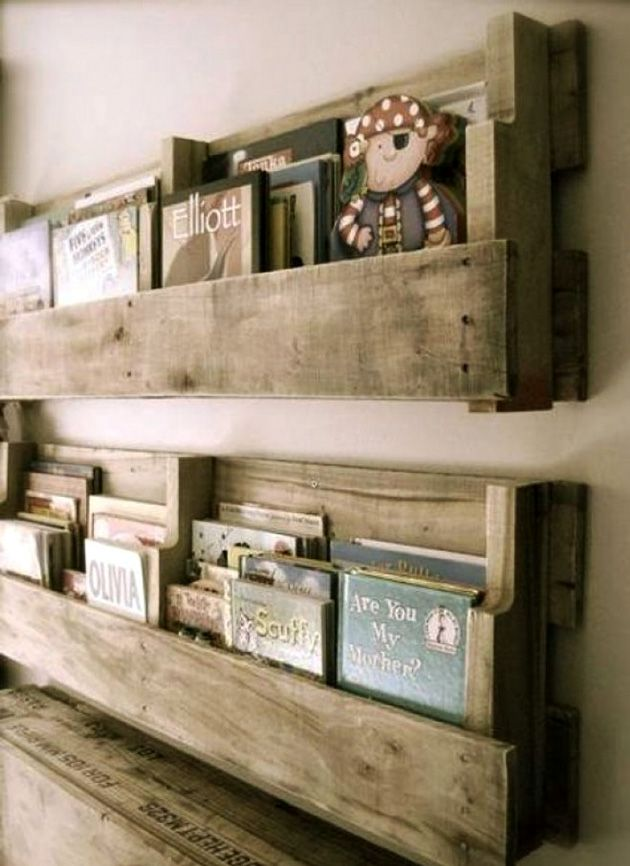 book shelves from pallets