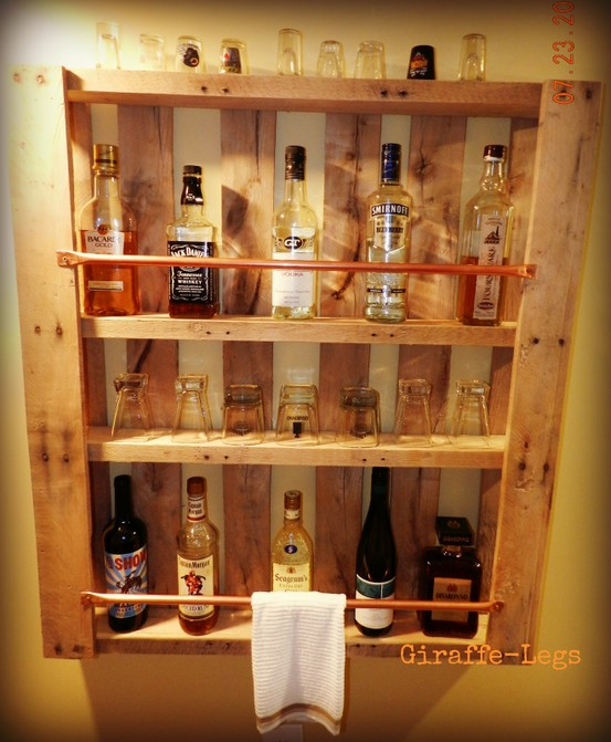wine shelves from pallets