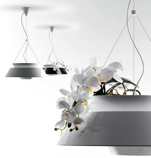 chandelier - vase with orchids