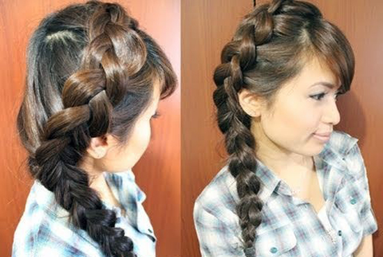 Hairstyles for school for long hair. Photo №6