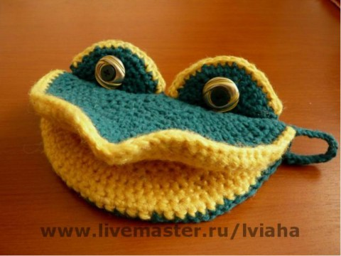 photo frog potholders