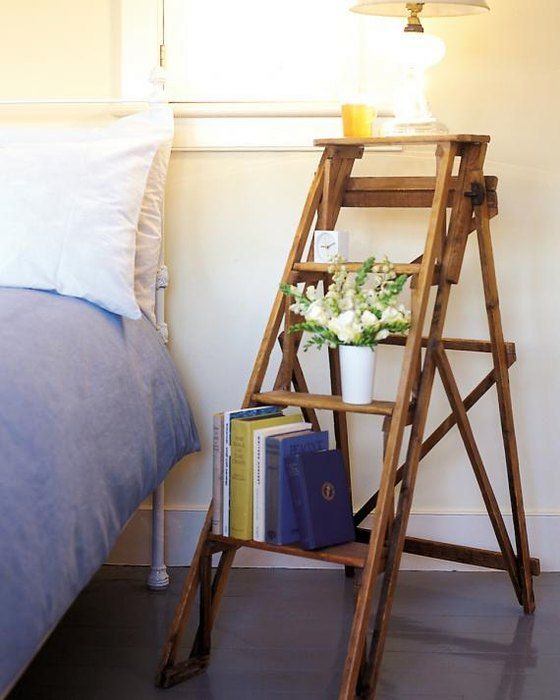 bedside table with own hands from a ladder