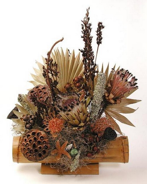 Bouquet of dry plants for decoration