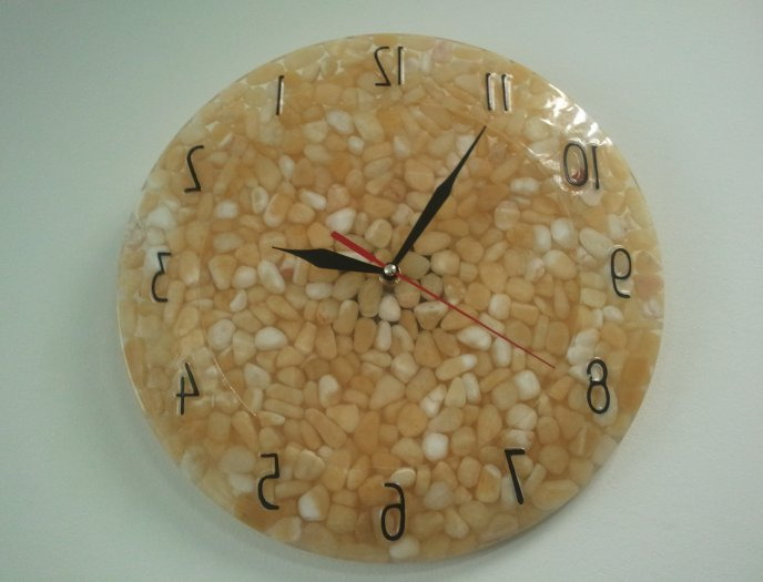 Watch filled with grain - for the decor of the kitchen