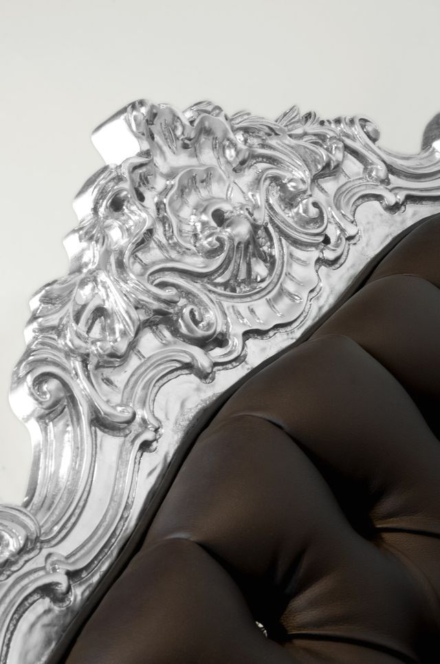Baroque elements on the back of the chair Beetle Armchair