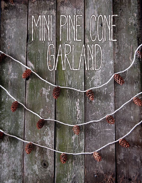 simple garland of cones with your own hands 01