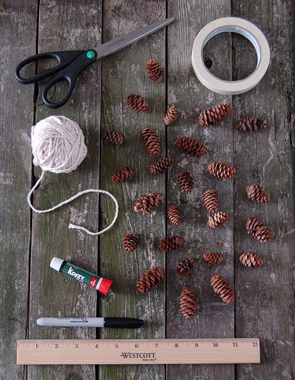 simple garland of cones with your own hands 02