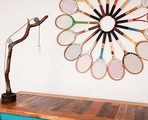wall decor with rackets