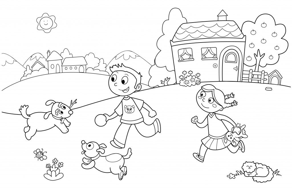 Coloring summer for children. Free download summer coloring.