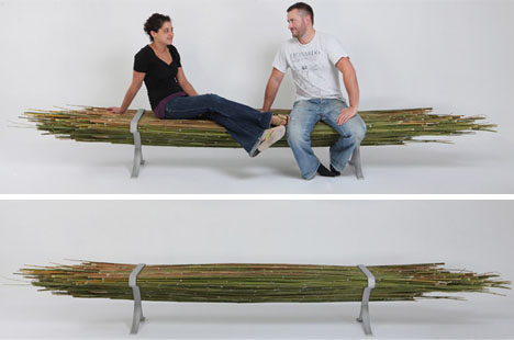 bamboo bench without back from Gal Ben-Arav