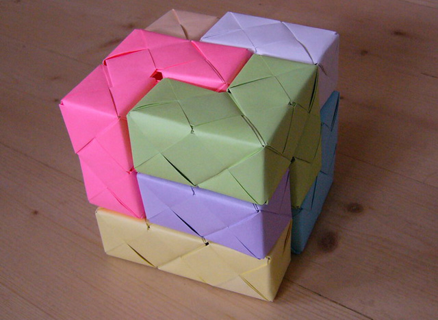 developing cubes with their own hands