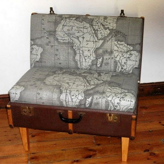 a chair from an old suitcase with your own hands